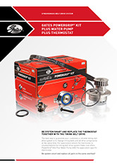 Gates PowerGrip Kit Plus Water Pump Plus Thermostat brochure