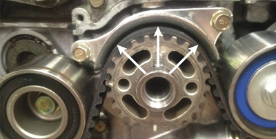 ideal clearance between the timing belt and guide plate