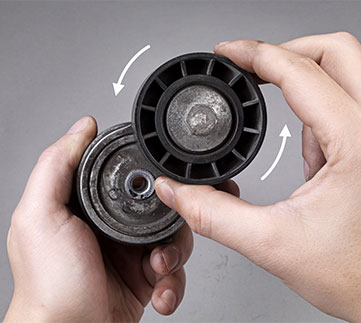 Problem Diagnosis X Tensioner Pulley Bearing Wear